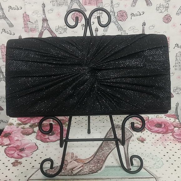 d'margeaux Handbags - d'margeaux Black Clutch Evening Bag
